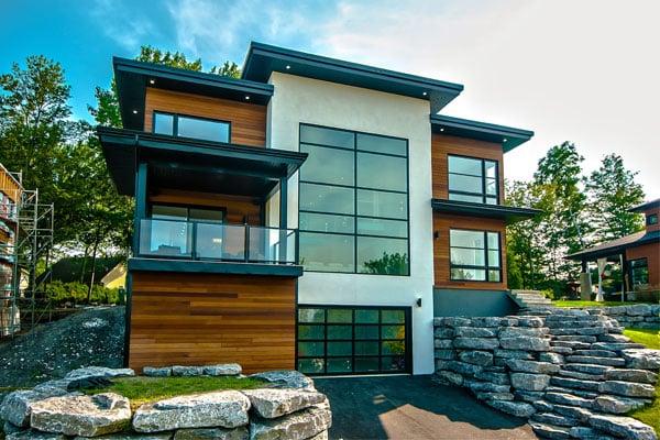 Installation d'une toiture sur une maison neuve