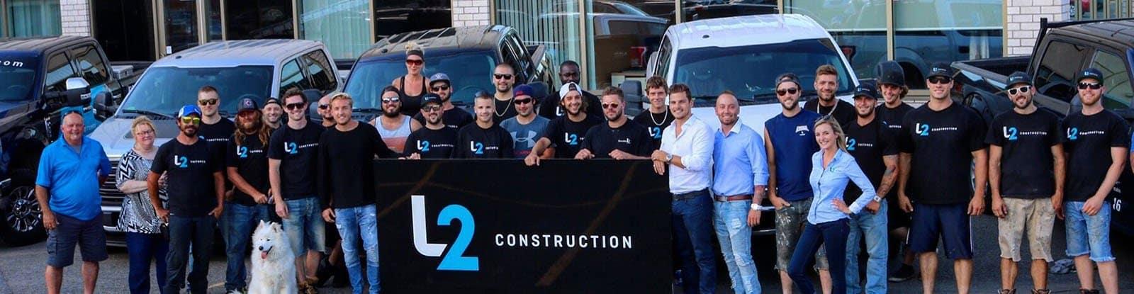 L'équipe de couvreurs de L2 Toitures à Québec
